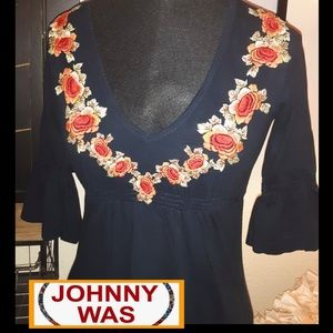 Worn Once! Johnny Was Floral Bird Dress!